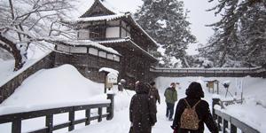 弘前城雪灯籠祭りの様子